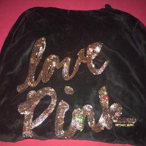 PINK sequin hoodie